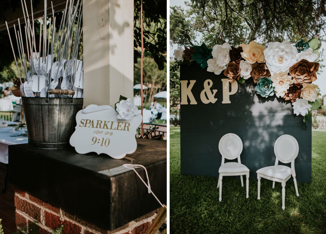 Wedding Details // Photo Booth and Sparklers // Modern Chic Mansion Wedding