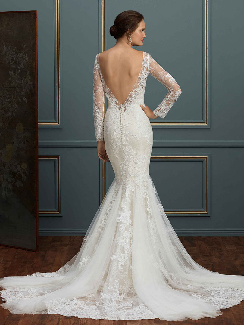 Style c115 elodie long sleeve lace wedding dress blog amar lace low back long sleeve wedding gown junglespirit Images