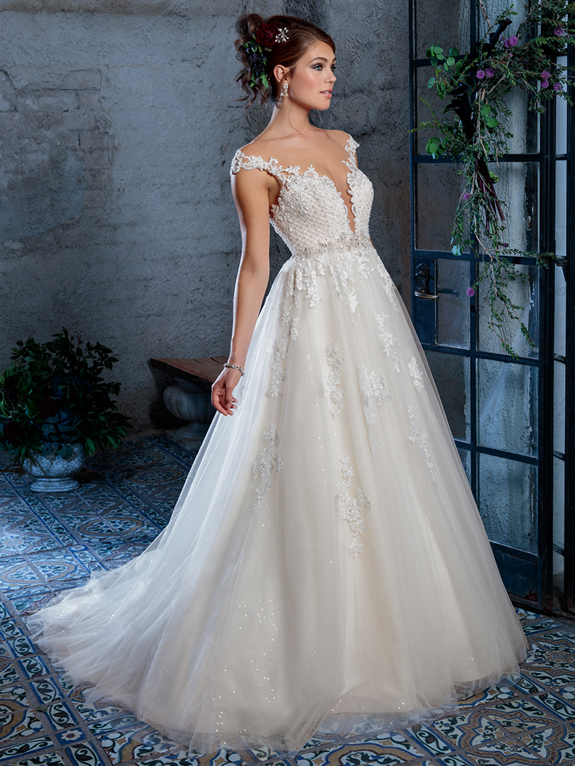 Amare Couture Style C134 Gabriela Ballgown Wedding Dress Sparkling Tulle Lace